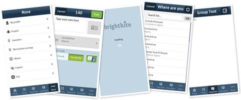 View Brightkite on Nokia 5800 XpressMusic